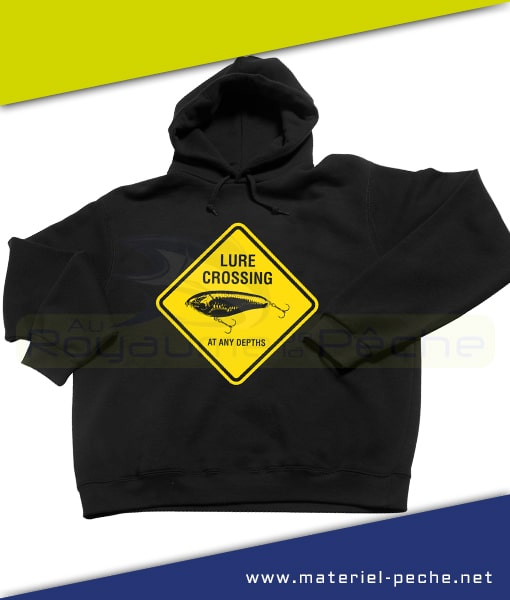 SWEAT CAPUCHE ILLEX LURE CROSSING BLACK TAILLE XL