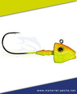 TETE PLOMBEE GUNKI G'FISH ORANGE FLUO YELLOW