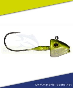 TETE PLOMBEE GUNKI G'FISH NATURAL GREEN SILVER