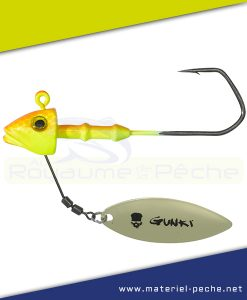 TETE PLOMBEE GUNKI G'FISH FLASH PIKE ORANGE FLUO YELLOW