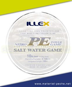 TRESSE ILLEX NITRO PE POWER GAME 150 M